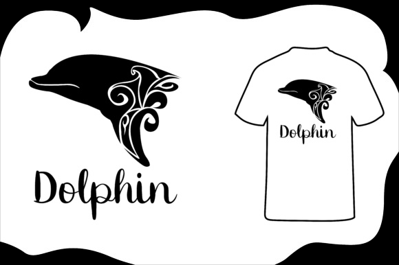 Print on Demand: T Shirt Animal Silhouette Dolphin Graphic Illustrations By Arief Sapta Adjie