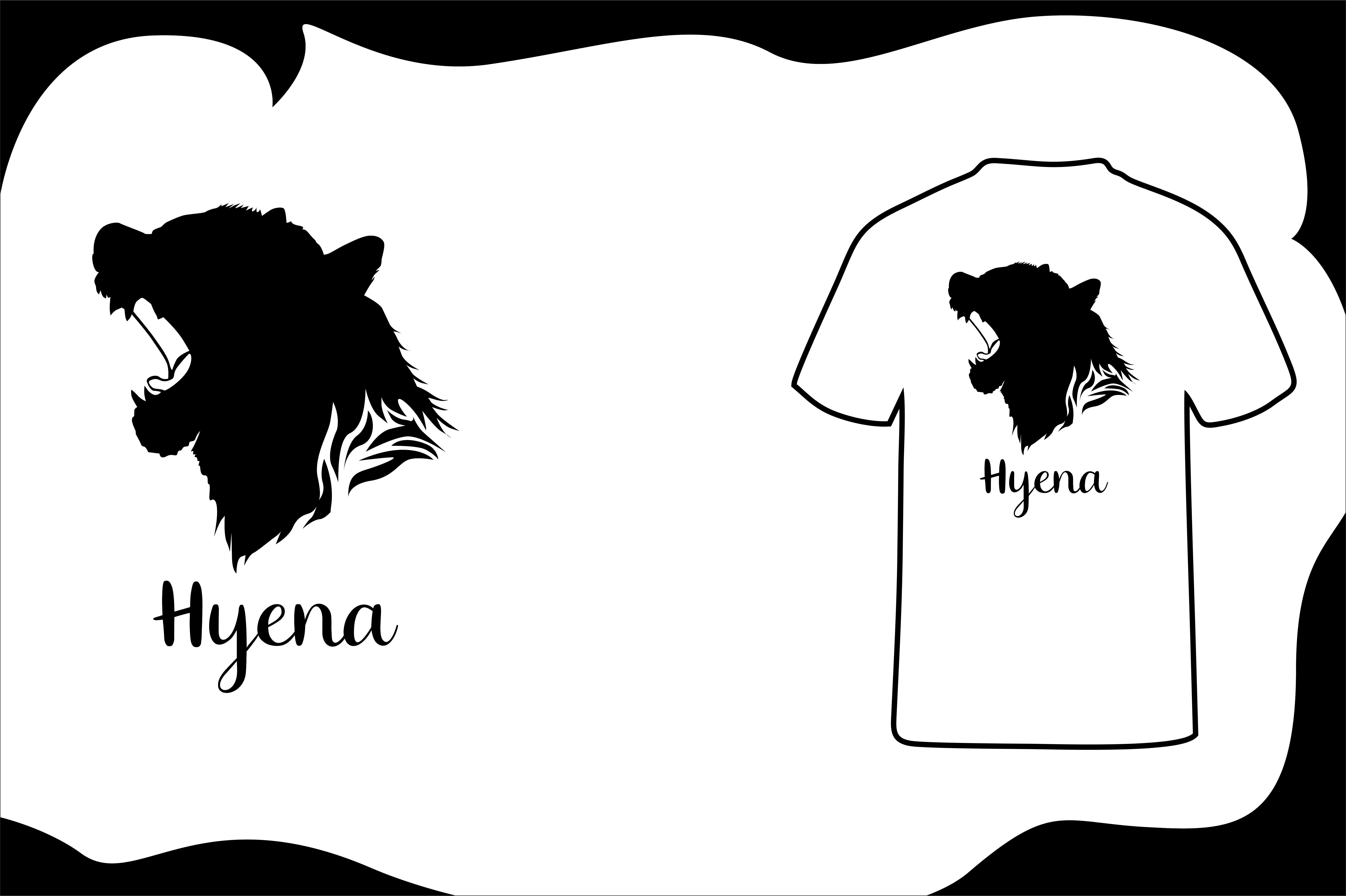 Download Free T Shirt Animal Silhouette Hyena Graphic By Arief Sapta Adjie for Cricut Explore, Silhouette and other cutting machines.