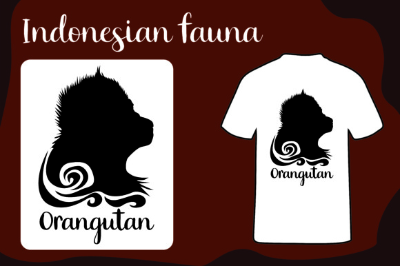 Download Free T Shirt Animal Silhouette Orangutan Indonesia Graphic By Arief for Cricut Explore, Silhouette and other cutting machines.