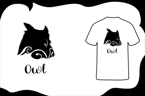 Print on Demand: T Shirt Animal Silhouette Owl Graphic Illustrations By Arief Sapta Adjie - Image 1