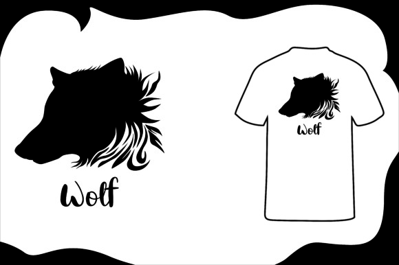 Print on Demand: T Shirt Animal Silhouette Wolf Graphic Illustrations By Arief Sapta Adjie