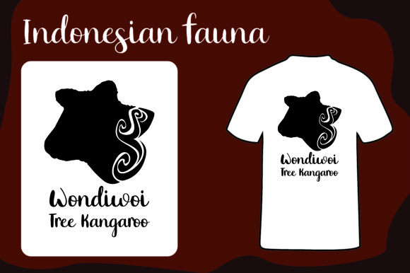 T Shirt Animal Silhouette Wondiwoi Tree Kangaroo