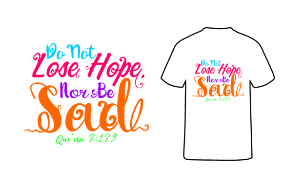 Print on Demand: T Shirt Muslim Quotes Graphic Illustrations By Arief Sapta Adjie - Image 1