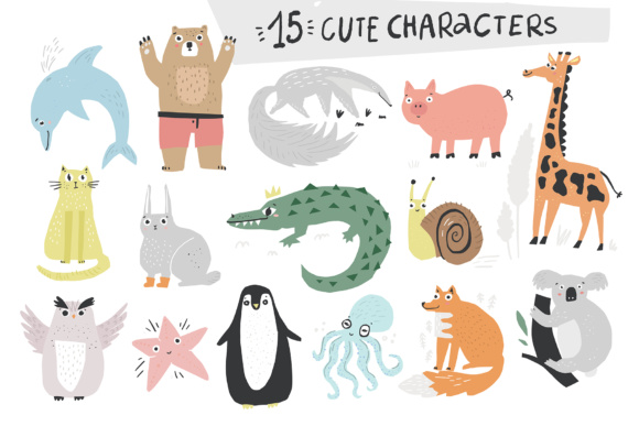 Talking Animals SVG Bundle Graphic Illustrations By Favete Art - Image 3