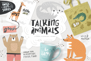 Talking Animals Bundle Graphic Illustrations By Favete Art
