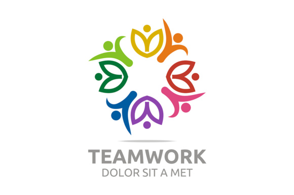 Teamwork Logo Graphic Logos By Acongraphic