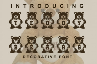 Download Free Teddy Bears Font By Vladimirnikolic Creative Fabrica for Cricut Explore, Silhouette and other cutting machines.