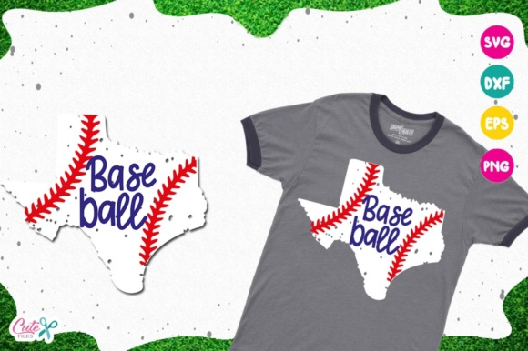 Download Free Texas Baseball Cortar Archivos Para Craftter Graphic By Cute for Cricut Explore, Silhouette and other cutting machines.