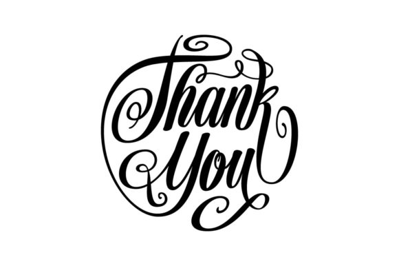 Download Free Thank You Lettering Circle Shape Svg Graphic By Royaltype for Cricut Explore, Silhouette and other cutting machines.