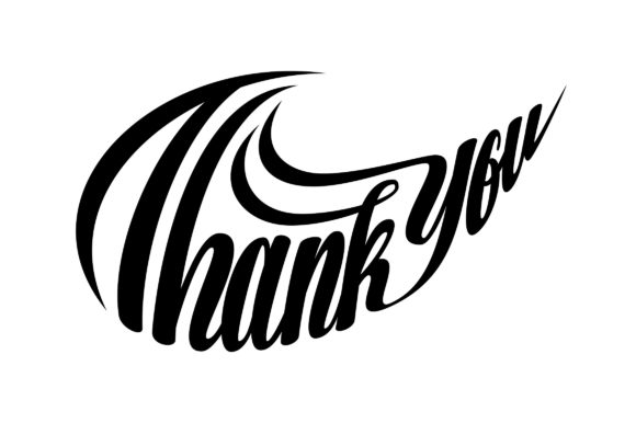 Download Free Thank You Lettering Swoosh Shape Svg Graphic By Royaltype for Cricut Explore, Silhouette and other cutting machines.