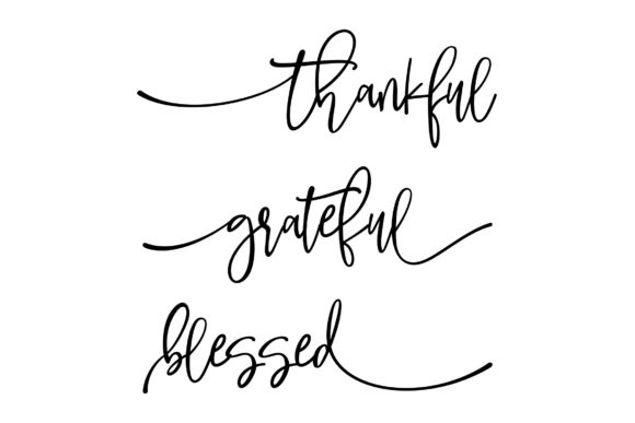 Download Free Thankful Grateful Blessed 3 Piece Bundle Set Graphic By Studio for Cricut Explore, Silhouette and other cutting machines.
