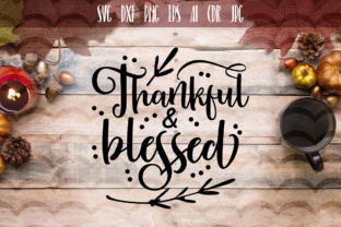 Thankful and Blessed SVG Graphic By Vector City Skyline