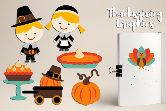 Print on Demand: Thanksgiving Party Graphic Illustrations By Revidevi