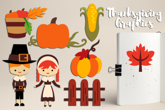 Print on Demand: Thanksgiving Pilgrims Graphics Graphic Illustrations By Revidevi