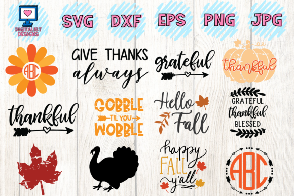 Download Free Thanksgiving Bundle 30 Designs Graphic By Digitalistdesigns for Cricut Explore, Silhouette and other cutting machines.
