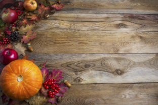 Thanksgiving  or Fall Greeting Background Graphic By TasiPas