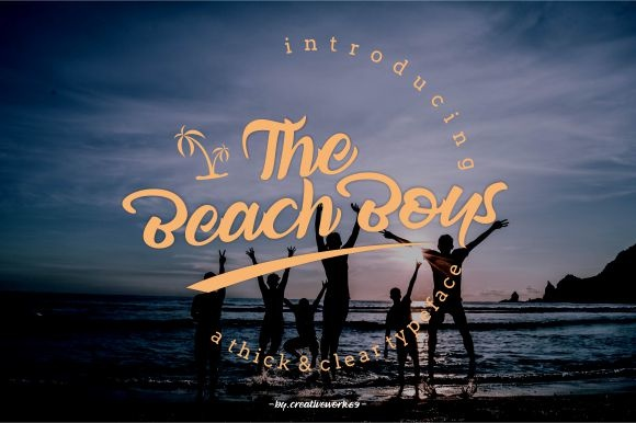 Print on Demand: The Beach Boys Script & Handwritten Font By creativework69