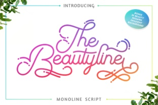 The Beautyline Font By putracetol