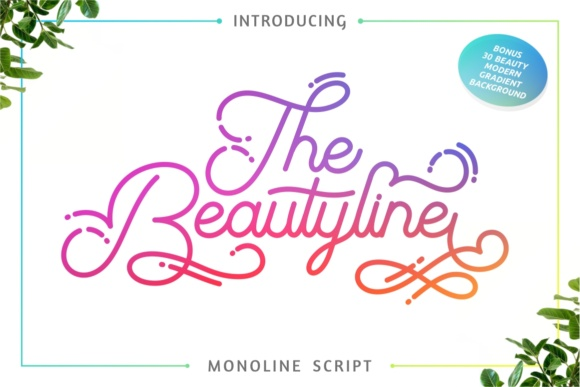 Print on Demand: The Beautyline Script & Handwritten Font By putracetol