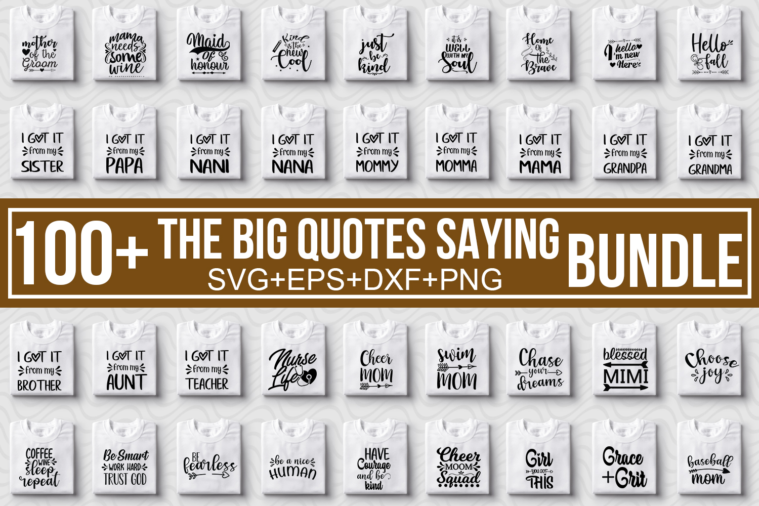 Download Free The Big Quotes Saying Bundle Grafik Von Svgbundle Net Creative for Cricut Explore, Silhouette and other cutting machines.