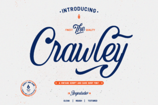 Print on Demand: The Crawley Duo Display Font By Angin Studio