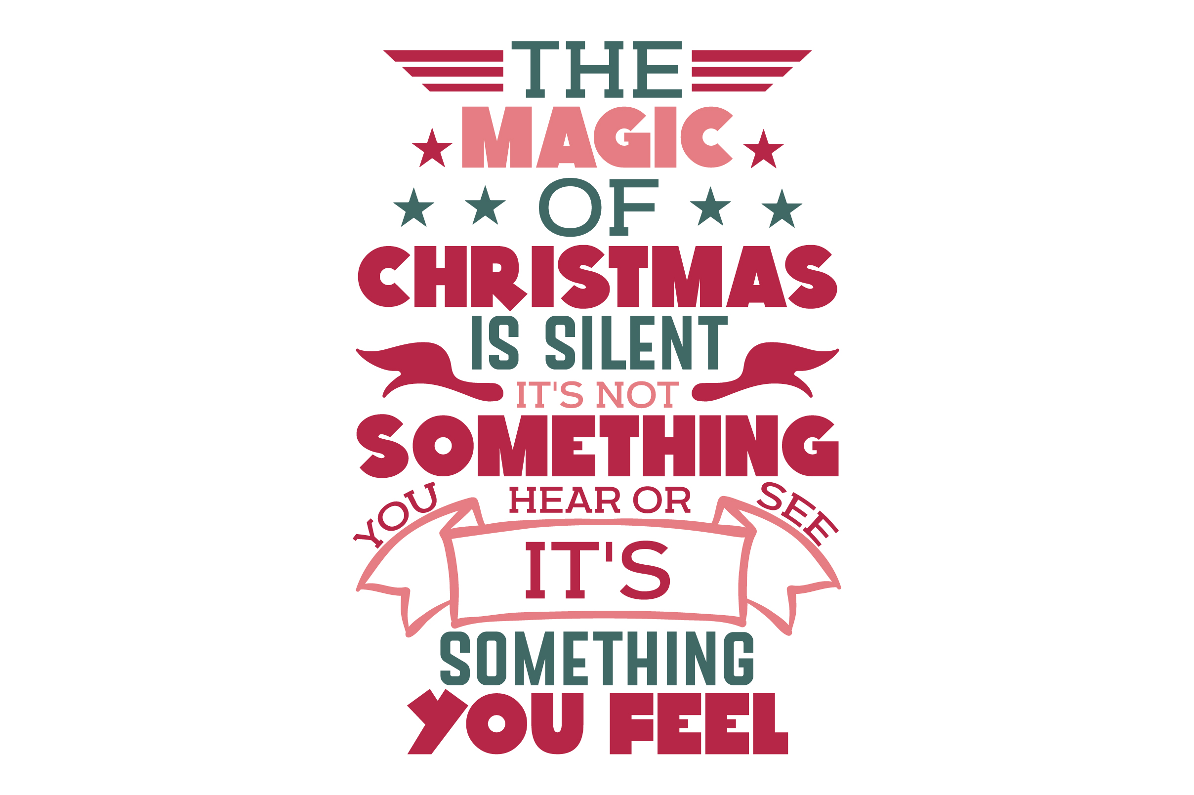 Download Free The Magic Of Christmas Is Silent Svg Cut File By Creative SVG Cut Files