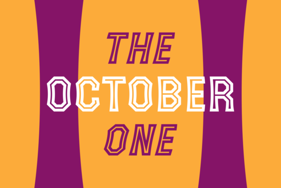 The October One Display Font By Situjuh