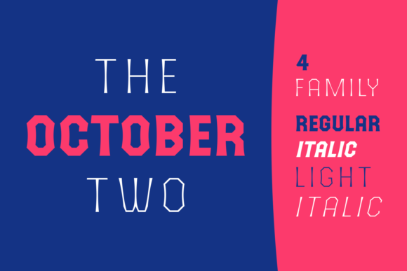 The October Two Display Font By Situjuh