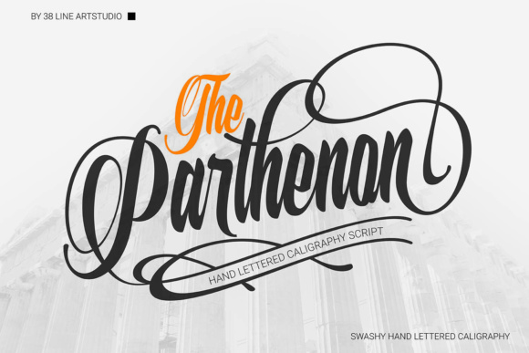 Print on Demand: The Parthenon Script & Handwritten Font By 38.lineart