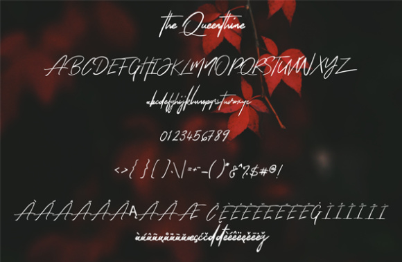 The Queenthine Font By silverdav Image 10