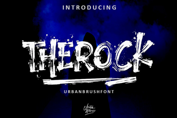 The Rock Display Font By MLKWSN studio