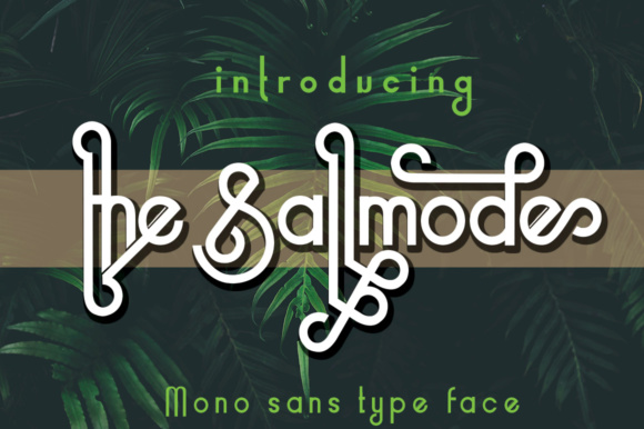 Print on Demand: The Sallmode Sans Serif Font By jehansyah251