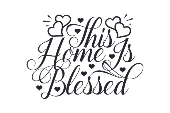 This Home is Blessed Craft Design By Creative Fabrica Freebies