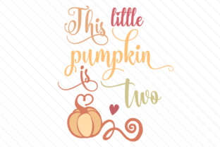 This Little Pumpkin is Two Craft Design By Creative Fabrica Crafts
