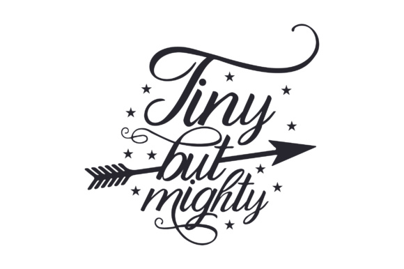 Tiny but Mighty Kids Craft Cut File By Creative Fabrica Crafts