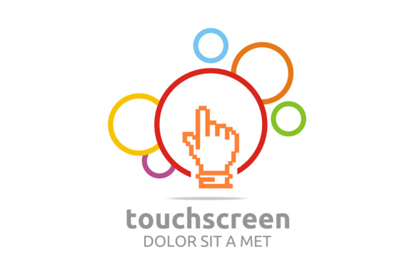 Touch Screen App Graphic Logos By Acongraphic
