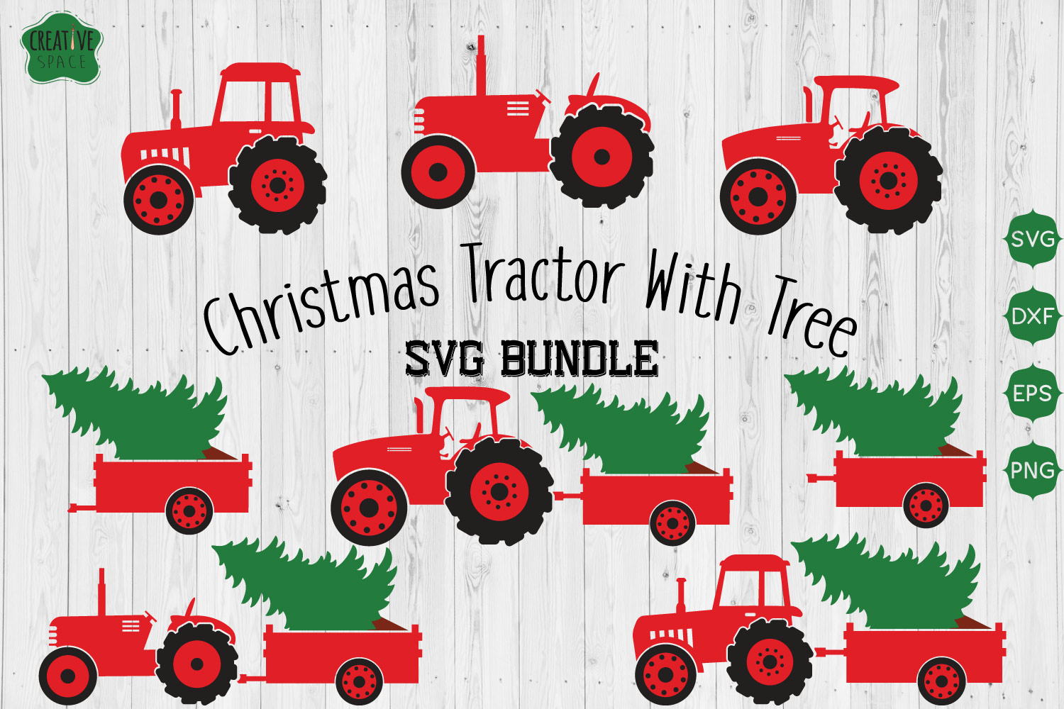 Download Free Tractor Grafico Por Creativespace Creative Fabrica for Cricut Explore, Silhouette and other cutting machines.