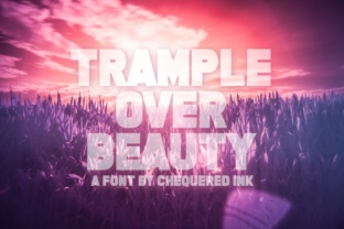 Trample over Beauty Font By Chequered Ink