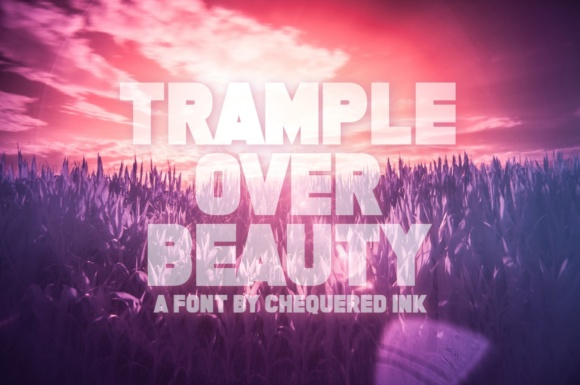 Print on Demand: Trample over Beauty Display Font By Chequered Ink