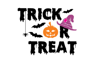 Download Free Trick Or Treat Graphic By Thelucky Creative Fabrica for Cricut Explore, Silhouette and other cutting machines.