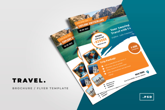 Trip Flyer Graphic Print Templates By TMint