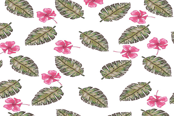 Tropical Background Digital Papers Graphic Backgrounds By BonaDesigns - Image 2
