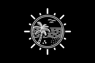 Download Free Tropical Island Line Art Design Graphic By Sabavector Creative SVG Cut Files