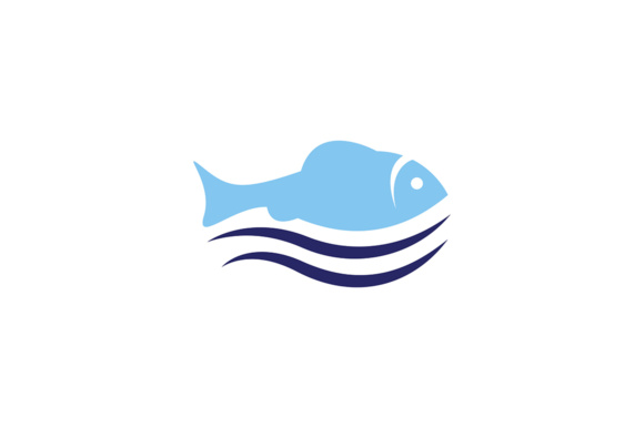 Tropical Sea Fish Graphic Logos By Friendesigns