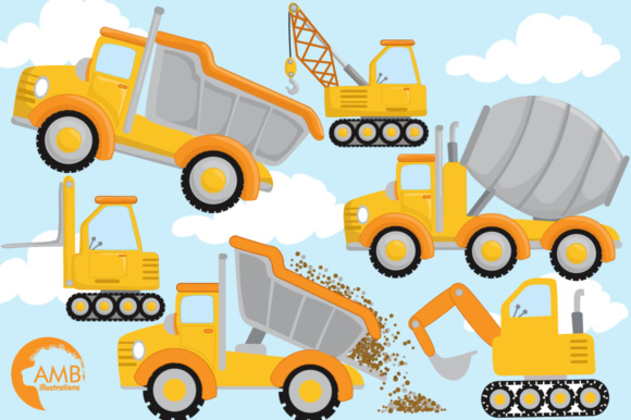 Trucks Clipart Graphic Illustrations By AMBillustrations - Image 4