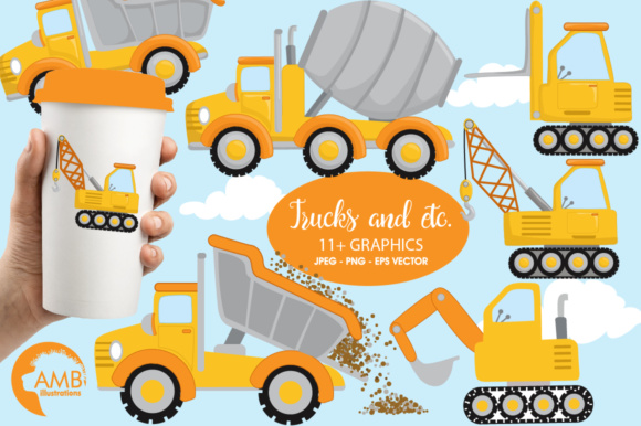 Trucks Clipart Graphic Illustrations By AMBillustrations
