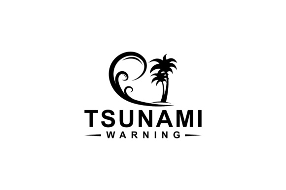 Print on Demand: Tsunami Silhouette Design Graphic Graphic Templates By sabavector