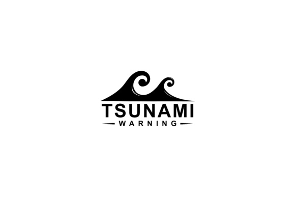 Print on Demand: Tsunami Symbol Design Graphic Logos By sabavector