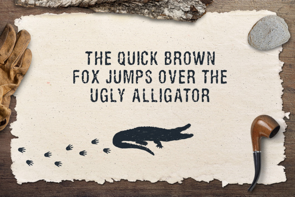 Print on Demand: Ugly Alligator Sans Serif Font By Cosmic Store - Image 2