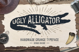 Ugly Alligator Sans Serif Font By Cosmic Store